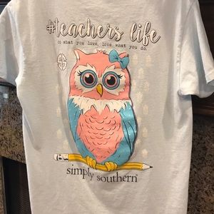 Simply Southern Teacher's Life with Owl. Size S